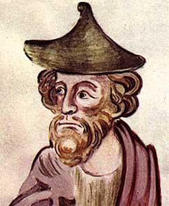Jewish knob pointed hat, England,                           13th century