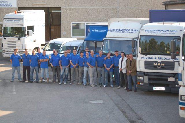 Geschwandtner GmbH Mitarbeiter Möbelpacker