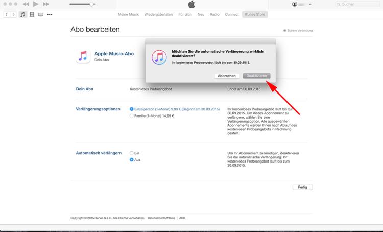 """Schritt 6: Es öffnet sich nun ein Fenster, indem Ihr letztmalig den """"Deaktivieren"""" Button klicken müsst!"""