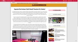 Clickbaiting auf dem Blog der Webseite des Frauenmagazin - pianetadonna