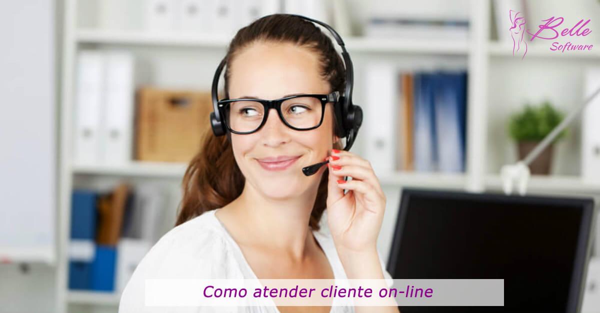 Como atender cliente on-line