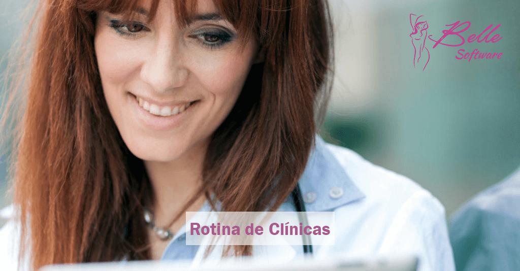 rotina de clínicas de estética
