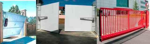 Portas e portões eletrônicos