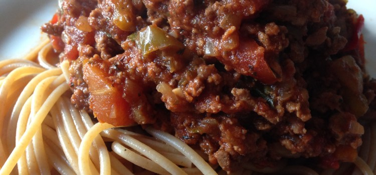 gestational diabetes spaghetti bolognese