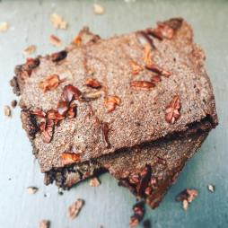 brownies with cacao nibs