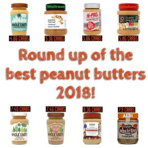 lowest carb peanut butter 2018