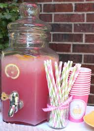 pink lemonade cooler