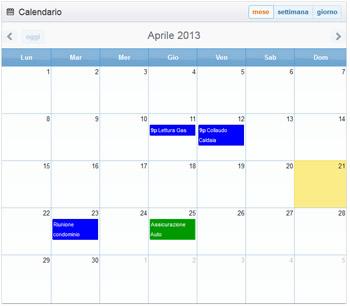 Calendario di Gestione Familiare