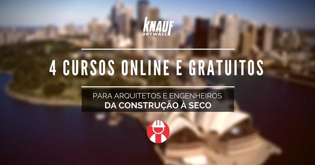 4 cursos online e gratuitos para arquitetos e engenheiros da construção a seco