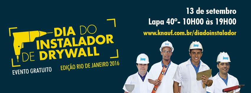 Banner - Rio - 851x315 - Dia do Instalador de Drywall 2016 - Knauf & Gestor de Obras