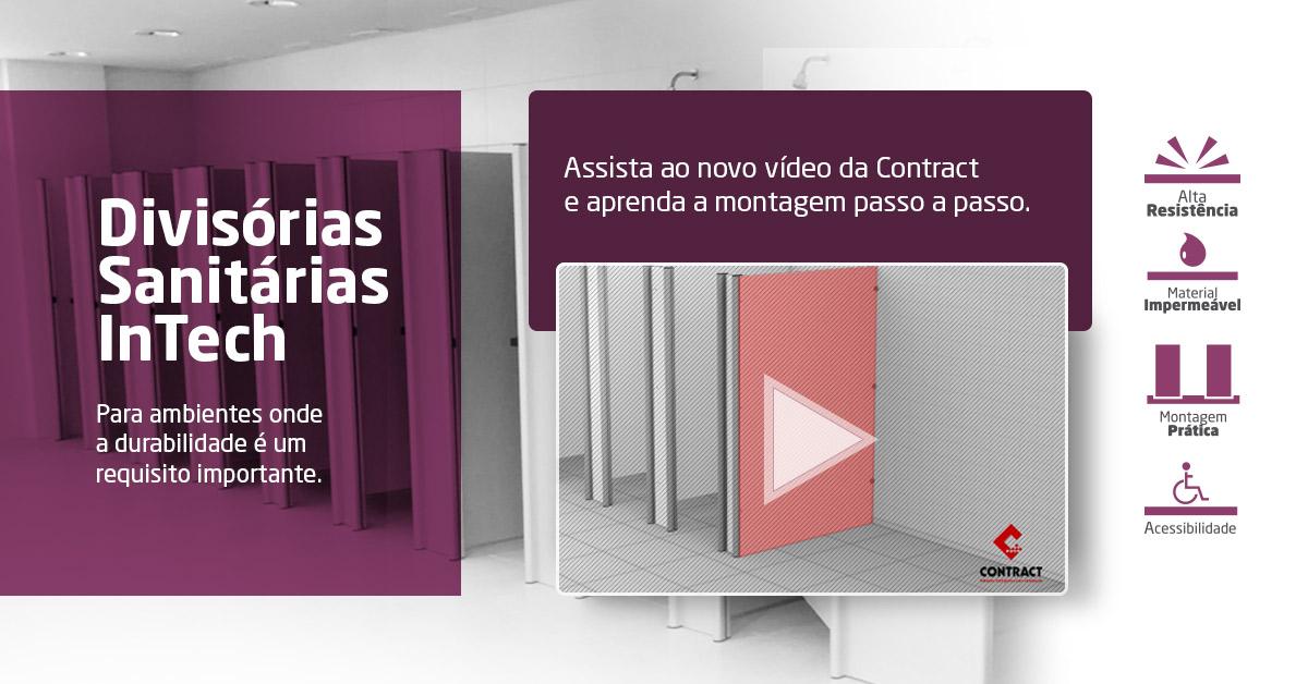 Contract lança novo vídeo de montagem das Divisórias Sanitárias Intech