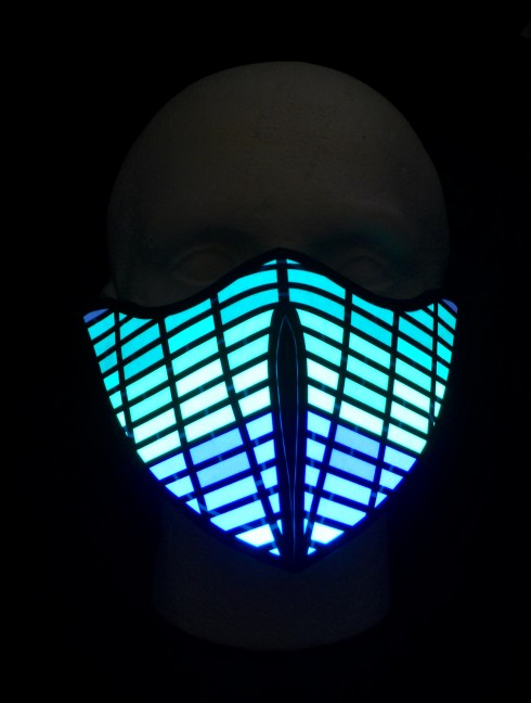 Equalizer Rave Mask Sound Sensitive Led Flashing Masks