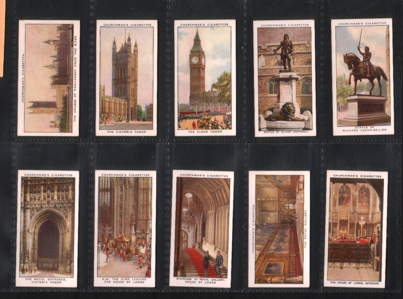Tobacco Cigarette Cards The Houses Of Parliament 1931