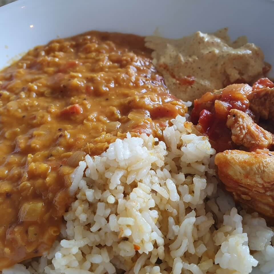 dhal and rice