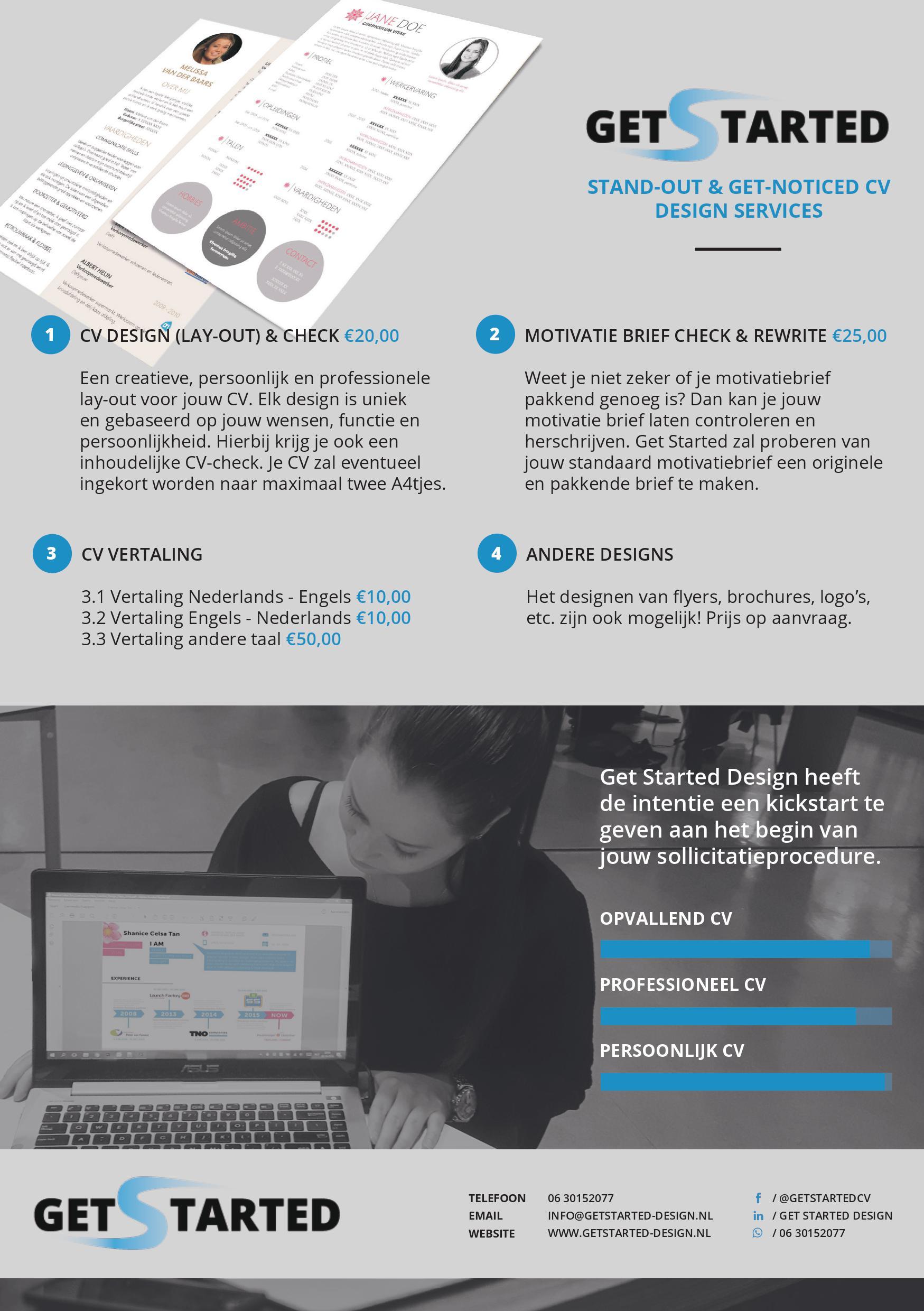 Get Started Design flyer