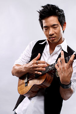 Jake Shimabukuro playing the ukulele