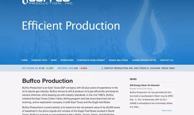Buffco Website Design