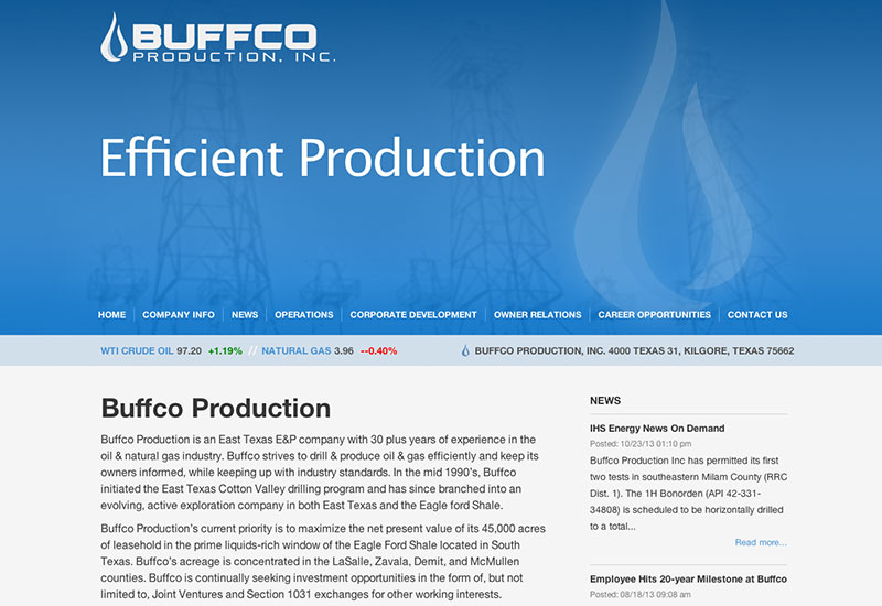 Buffco Website Design