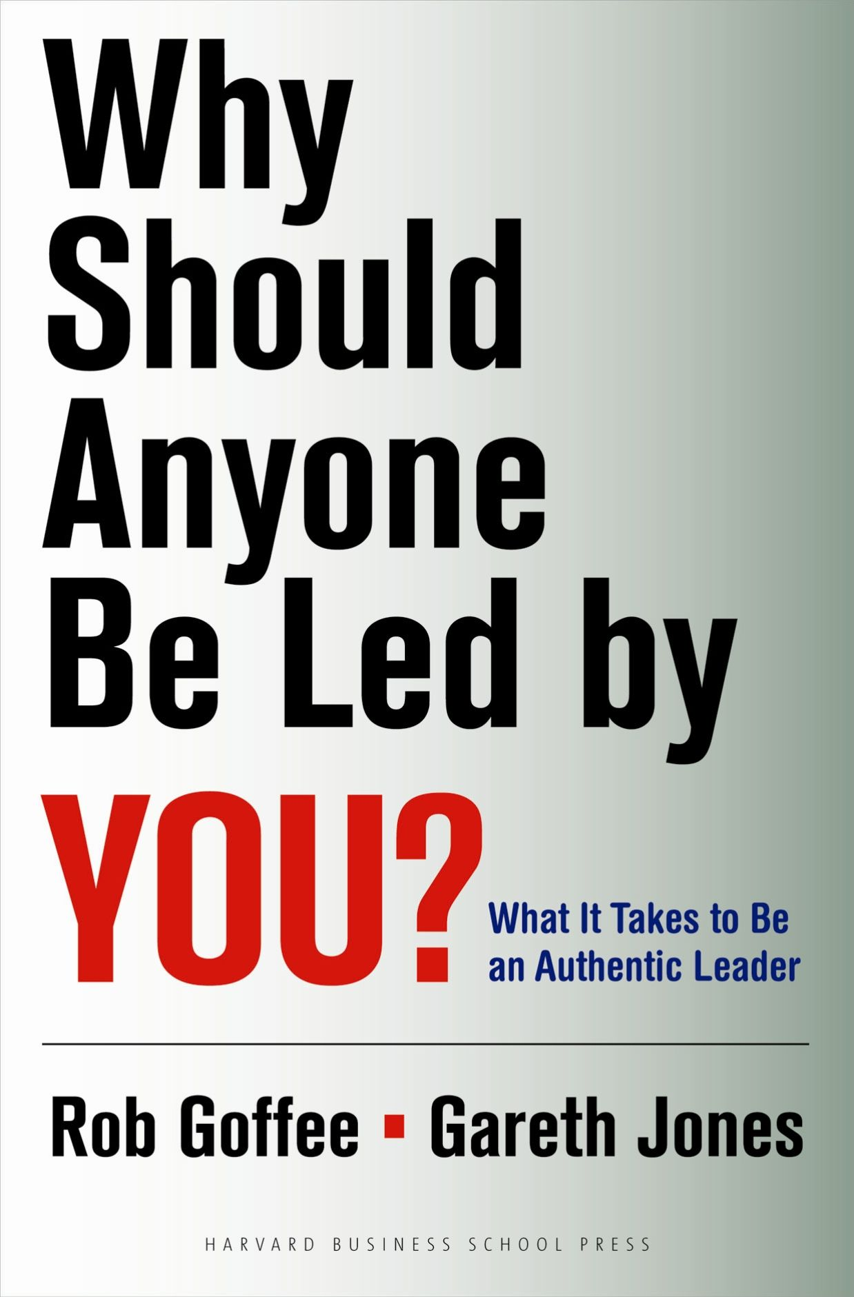 Why Should Anyone Be Led By You Summary Rob Goffee And Gareth Jones