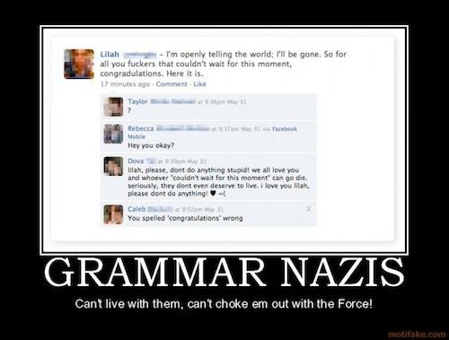 grammar nazis