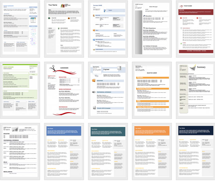 Downloadable And Editable Free Cv Templates Get A Free Cv