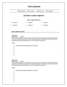 7 Free Blank Cv Resume Templates For