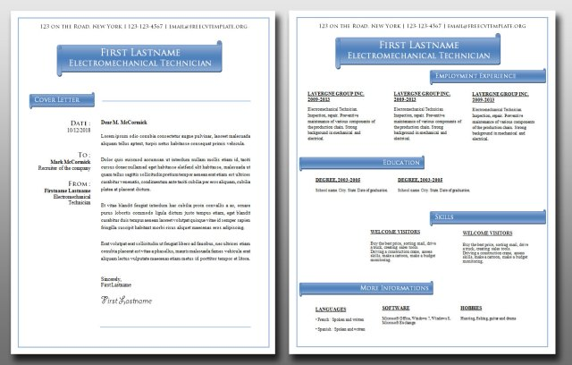 Cover Letter and CV Bundle #10