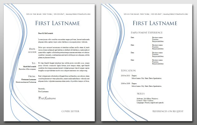 CV and Cover Letter Templates Bundle #11