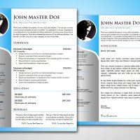 Modern Blue CV & Cover Letter