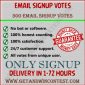 email signup vote