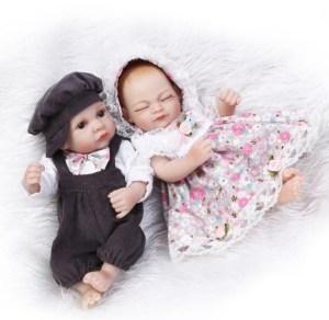 Best Pair handmade life like Reborn Baby girl and boy doll full Image