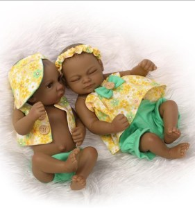 Real Life like full Silicone body cute twins pigeon pair Reborn baby doll set