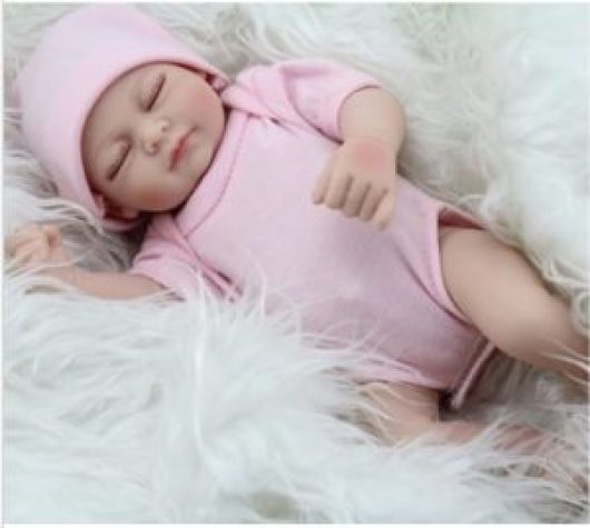 "11"" Handmade Real Looking Newborn Baby Vinyl Silicone Realistic Reborn Doll Girl Image"