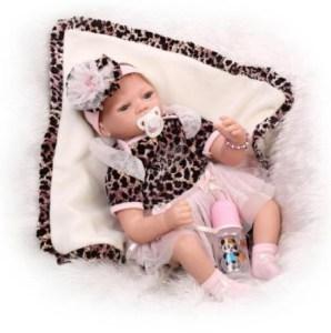 55CM/22'' Handmade Lifelike Baby Leopard Doll Silicone Image
