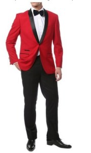 Ferrecci-Zonettie Mens Luxury 2pc Slim Fit Shawl Tuxedo (many colors) Full Image