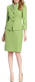 Le Suit Women's Sleeve Jacket & Skirt Set Image
