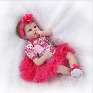 Handmade Vinyl Silicone Reborn Baby Dolls Lifelike Doll Girl Gift 22'' Image