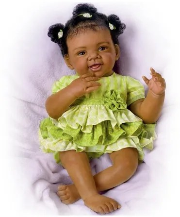 Alexi Black African American Reborn Baby Doll