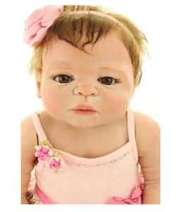 22 Inches Full Body Silicone Vinyl Reborn Baby Toy Girl Doll