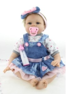 SanyDoll Soft Silicone Vinyl Cute Baby Boy Girl Doll