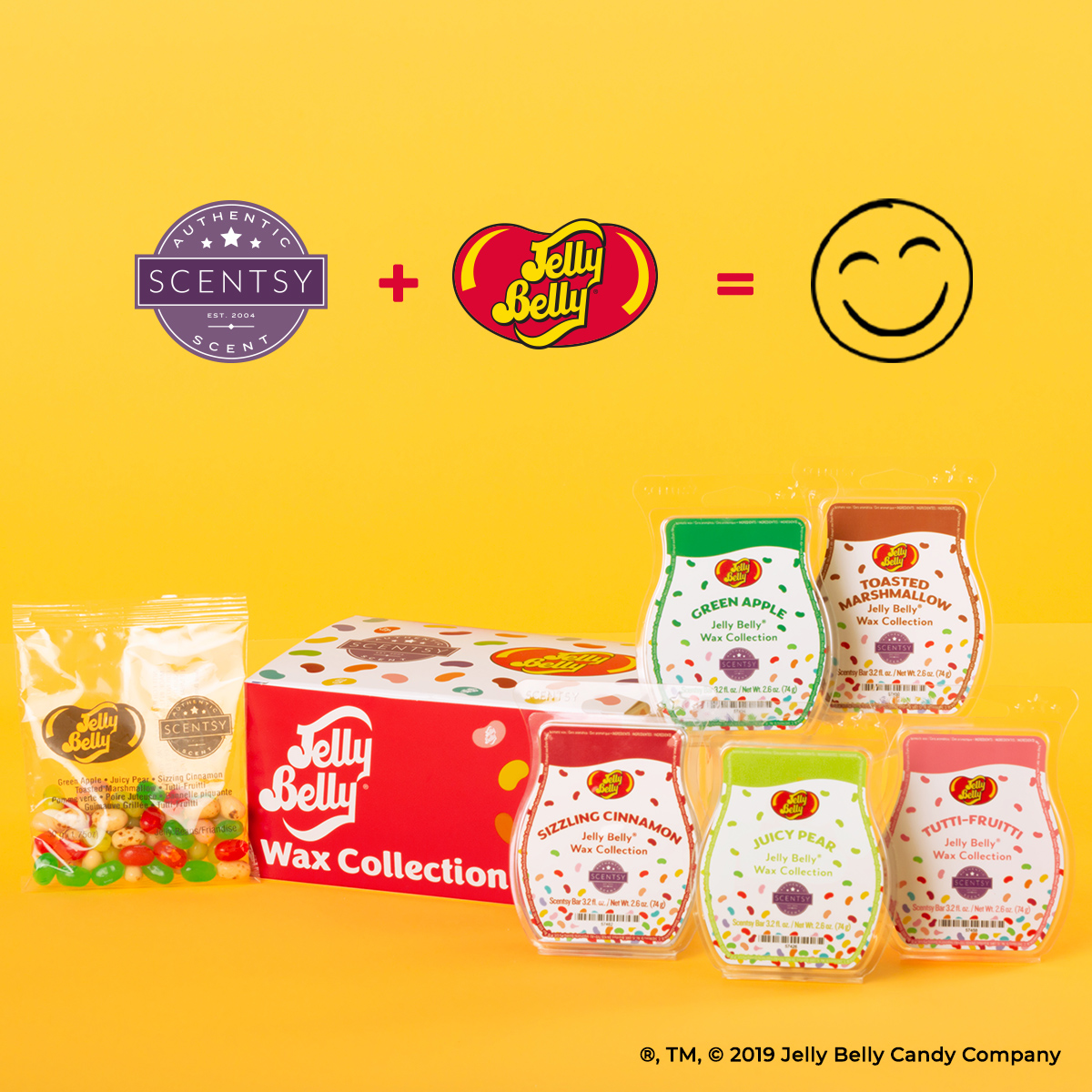 Get the Scentsy Jelly Belly wax collection for sale NOW at getascent.com!