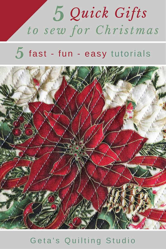 Sew Quick Christmas Gifts Sewing And Quilting Tutorials