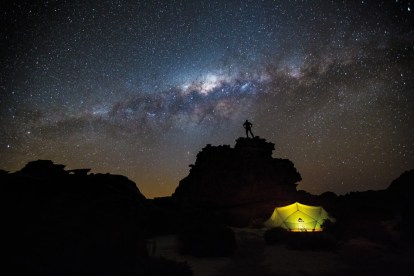 First Place: Mark Chittenden with 'Under the Stars' After a strenuous hike in the Cederberg Wilderness, we camped at the famous landmark, the Wolfberg Arch. My ideal would have been the Milky Way over the arch but it was lying in the opposite direction. That said, I still loved the rock formations we could see and using what we had, came up with this shot. It is a truly 'dark sky' at this location and, exposing for 35 seconds, the sensor just soaked up all the stars that night. The challenge was lighting the tent: we used a headlamp wrapped in a thin neck scarf. – By Mark Chittenden, Cape Town Canon 5D Mark III, Canon 16-35mm f/2.8L II, ISO 3200, f2.8, 35 sec