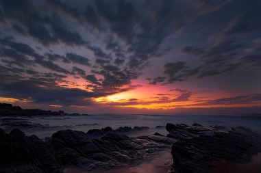 I took this image using a remote control and tripod at Thompson's Bay beach, just before sunrise. - By James Harris, Mpumalanga. Nikon D90, Sigma 10-20mm, ISO 200, f/16, 28 sec.