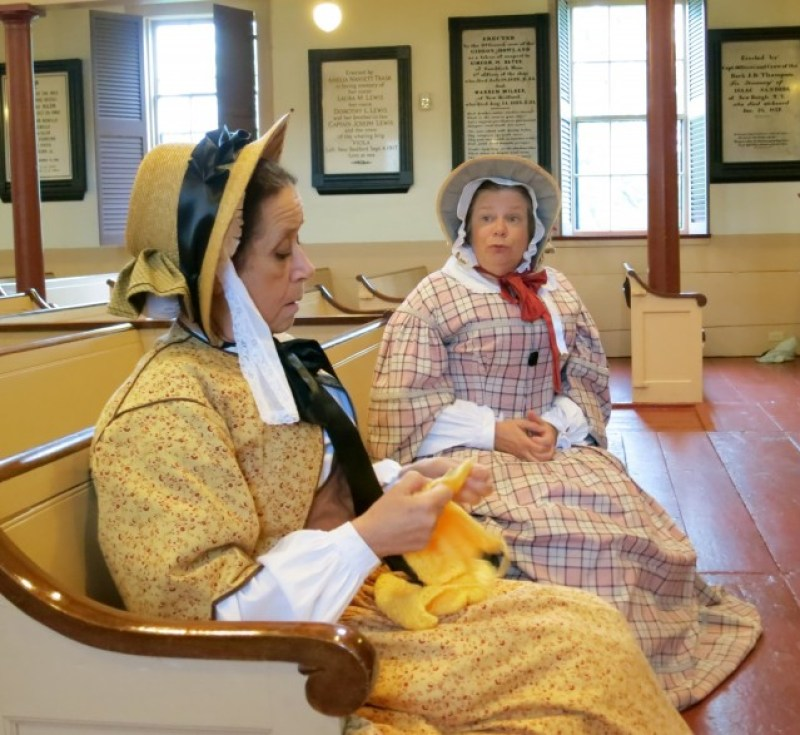 The 1850's Gals, Ruth and Abby, dish the latest gossip in New Bedford, MA #VisitMA @GetawayMavens