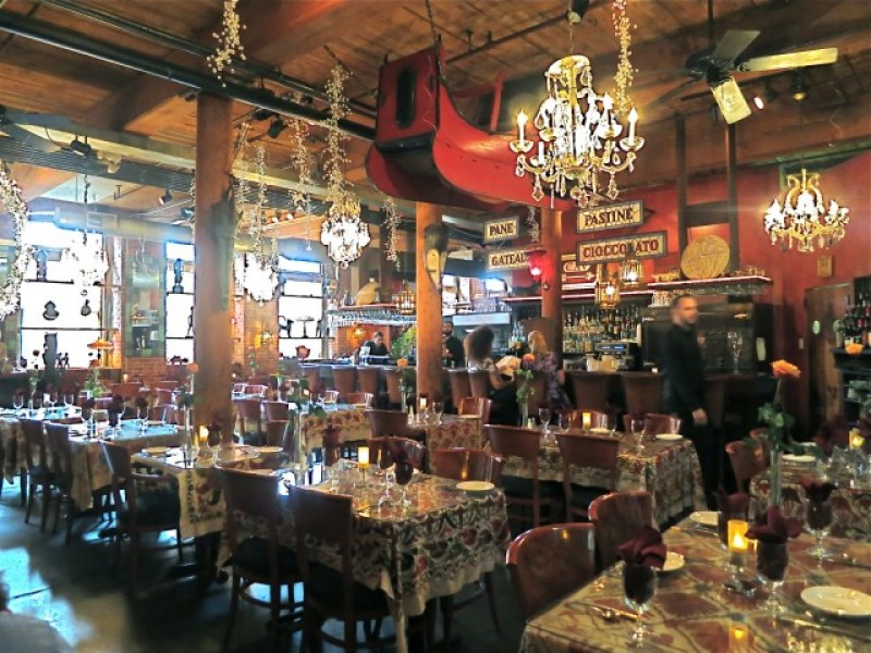 Interior of restaurant that doubles as antique shop, CAV; Providence, RI