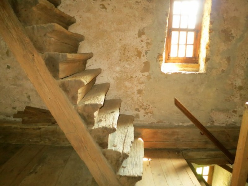 Original 1719 Steps at Hans Herr House in Lancaster County PA