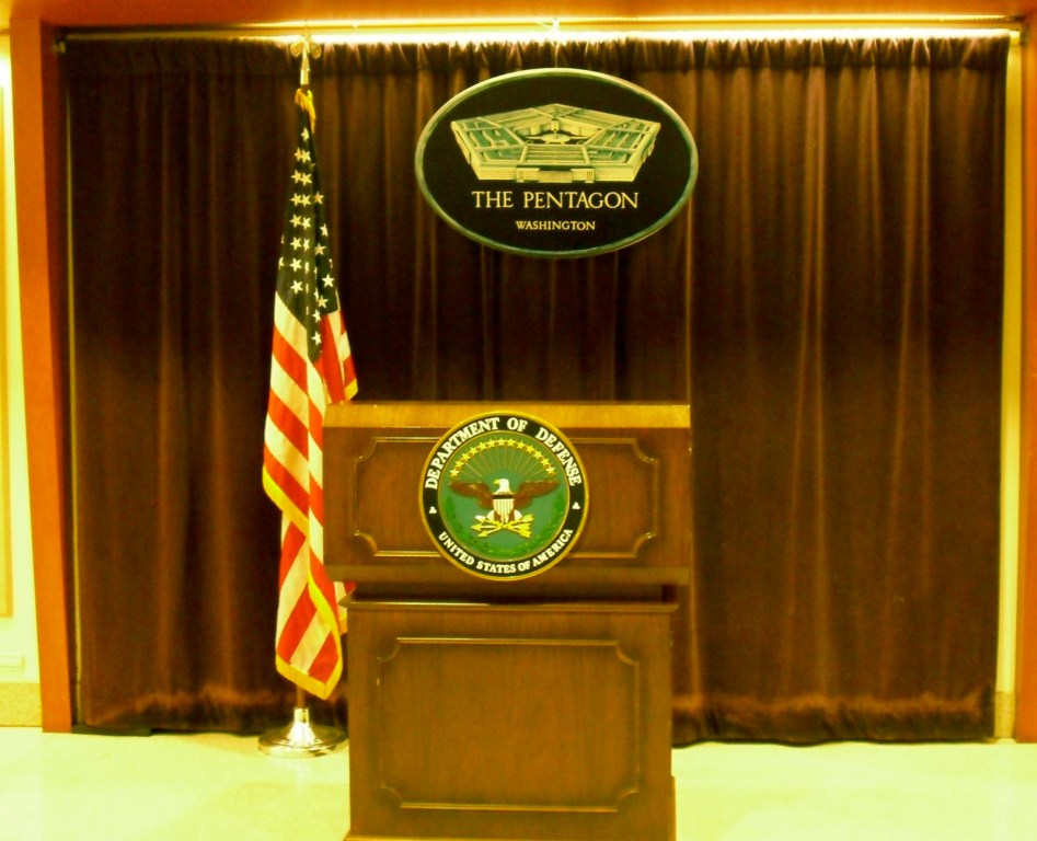 Pentagon Podium Well Known to Press - The Pentagon - Arlington VA