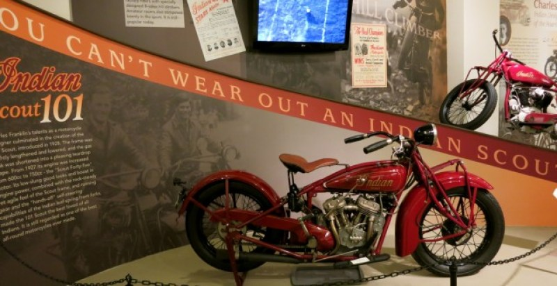 The best known Indian Motorcycle, the Scout, at Museum of Springfield MA History