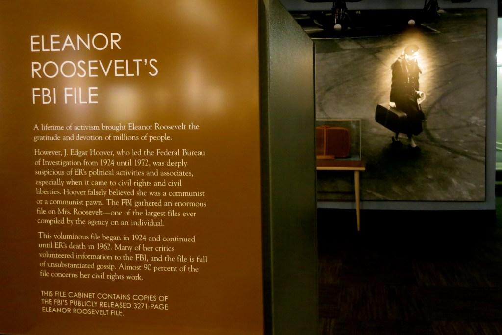 Eleanor Roosevelt Exhibit, FDR Museum, Hyde Park NY